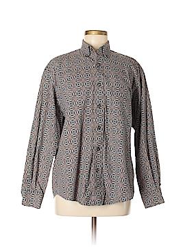 Perry Ellis Long Sleeve Button-Down Shirt Size M