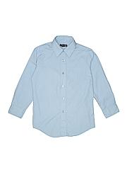 George Boys Long Sleeve Button-Down Shirt Size Medium kids 8