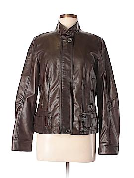 Relativity Faux Leather Jacket Size M