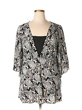 Nine West 3/4 Sleeve Silk Top Size 16