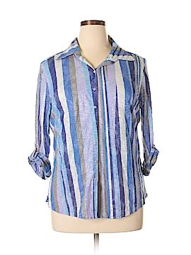 David Cline Long Sleeve Blouse Size XL