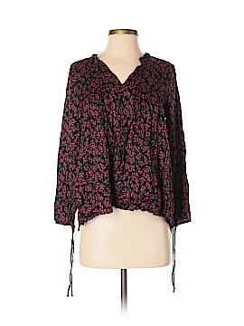 Velvet Long Sleeve Blouse Size S
