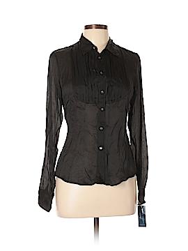 Ralph Lauren Long Sleeve Silk Top Size 10