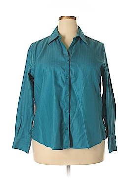 Foxcroft Long Sleeve Button-Down Shirt Size 16W