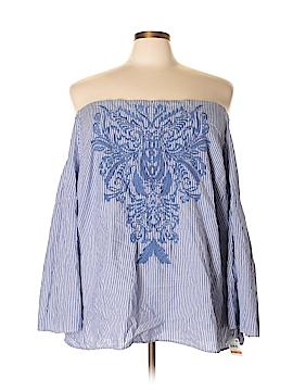Karen Scott 3/4 Sleeve Blouse Size 3X (Plus)