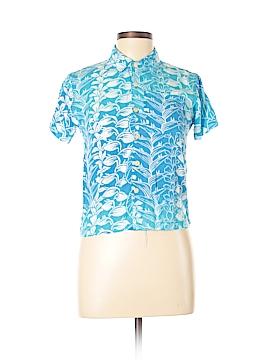 Blue Ginger Short Sleeve Button-Down Shirt Size 10