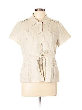 Lucy & Laurel Short Sleeve Button-Down Shirt Size L
