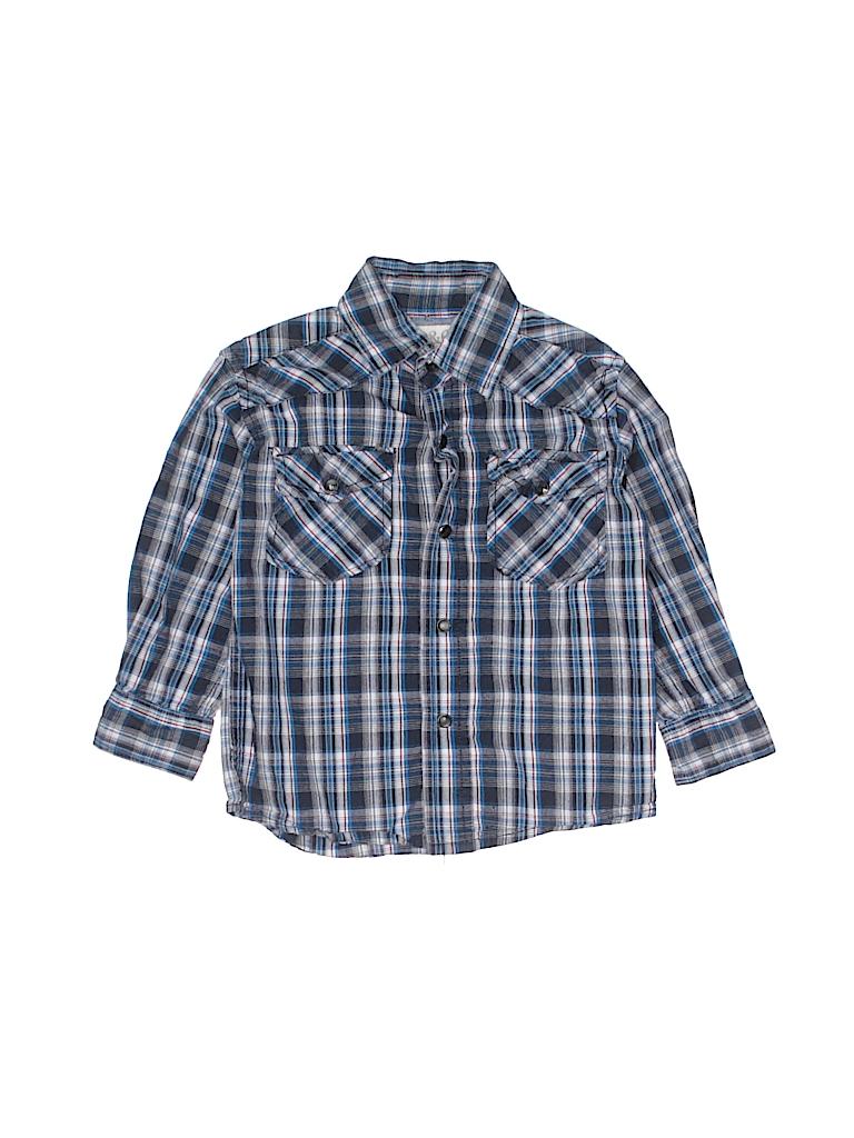 Pd&c Boys Long Sleeve Button-Down Shirt Size 3T