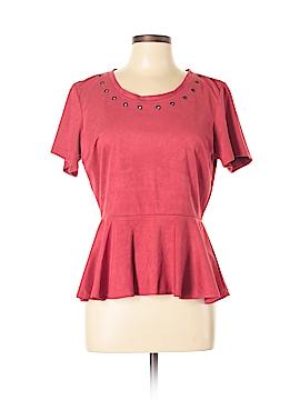 WD.NY Short Sleeve Blouse Size L