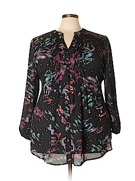 Melissa McCarthy Seven7 Long Sleeve Blouse Size 1X (Plus)