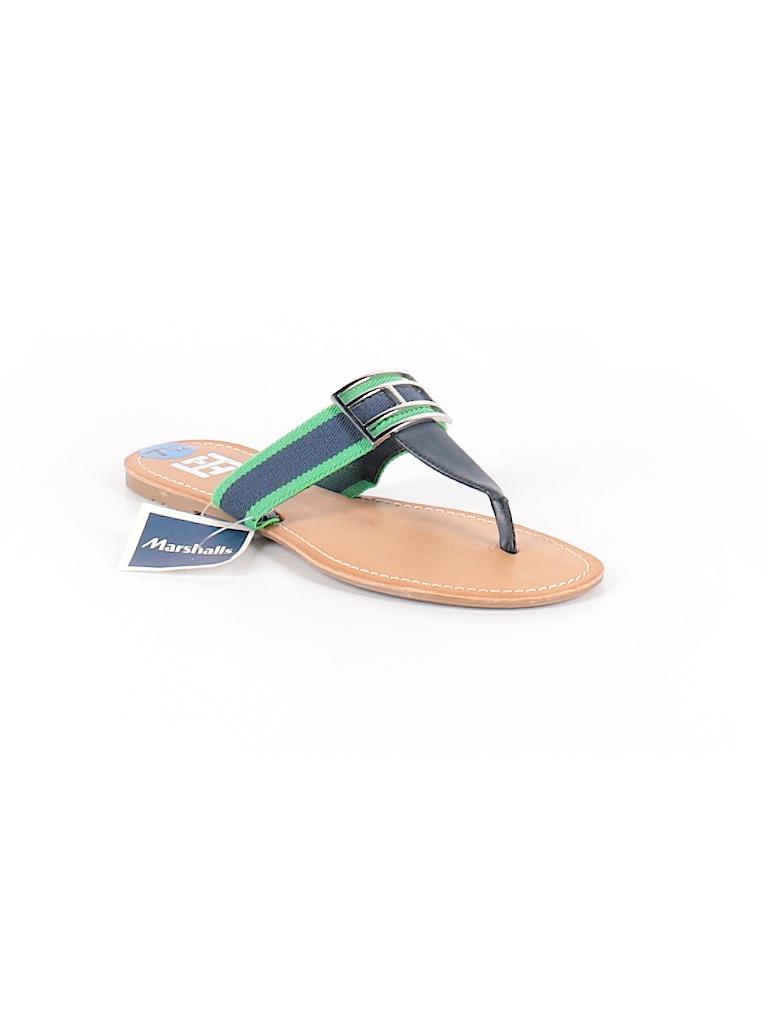 7de78ca0470e Tommy Hilfiger Solid Navy Blue Flip Flops Size 7 1 2 - 60% off