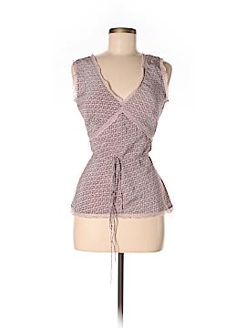 Calypso by Christiane Celle Sleeveless Silk Top Size S