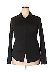 Mod-O-Doc Women Long Sleeve Button-Down Shirt Size 2X (Plus)