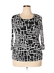 Alfani Women 3/4 Sleeve Top Size 1X (Plus)