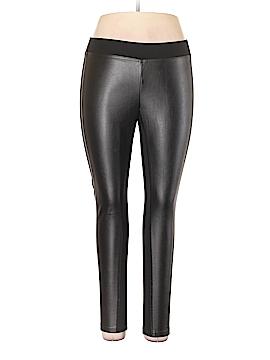 Ann Taylor Faux Leather Pants Size L