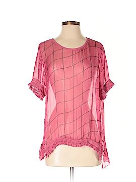 Lola Short Sleeve Silk Top Size S