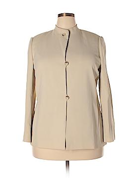 Linda Allard Ellen Tracy Silk Blazer Size 16