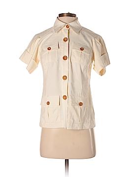 Diane von Furstenberg Short Sleeve Button-Down Shirt Size 2