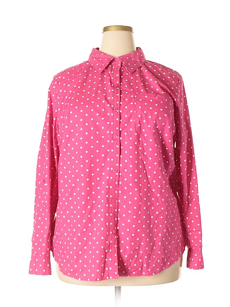 890f3bff533 Pin it Karen Scott Women Long Sleeve Button-Down Shirt Size 1X (Plus)