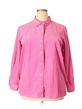 Blair Long Sleeve Button-Down Shirt Size XL (Plus)