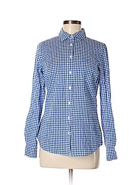 Fleur bleue 3/4 Sleeve Button-Down Shirt Size S