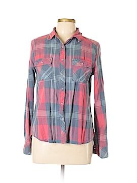 Alya Long Sleeve Button-Down Shirt Size L
