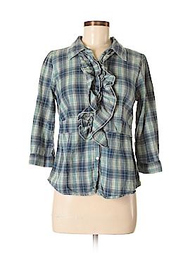 La Femme 3/4 Sleeve Button-Down Shirt Size XL