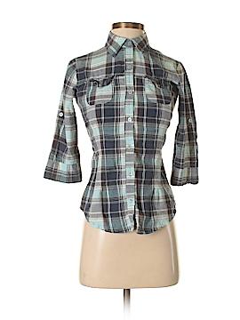 Magazine 3/4 Sleeve Button-Down Shirt Size S
