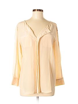 Club Monaco Long Sleeve Silk Top Size M