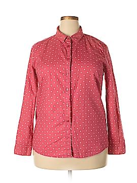 LC Lauren Conrad Long Sleeve Button-Down Shirt Size XL