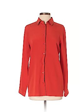 ETRO Long Sleeve Silk Top Size 38 (IT)