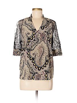 ETRO 3/4 Sleeve Silk Top Size 44 (IT)
