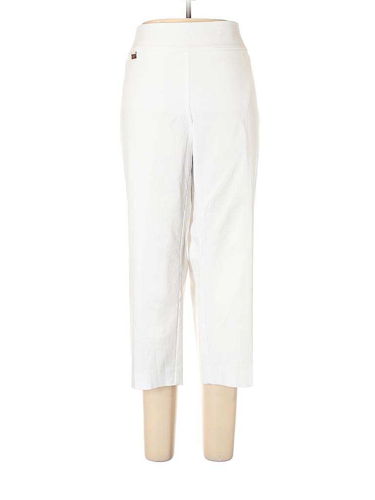 76a6e2a0ecb9c Alfani Solid White Casual Pants Size 18 (Plus) - 59% off