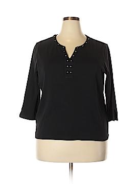 Rafaella 3/4 Sleeve Top Size 2X (Plus)
