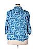 IZOD Women 3/4 Sleeve Button-Down Shirt Size 2X (Plus)