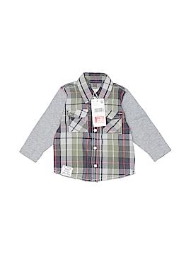 Pumpkin Patch Long Sleeve Button-Down Shirt Size 3-6 mo