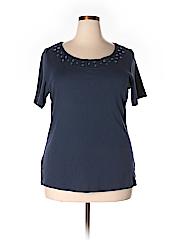 Karen Scott Women Short Sleeve Top Size 1X (Plus)