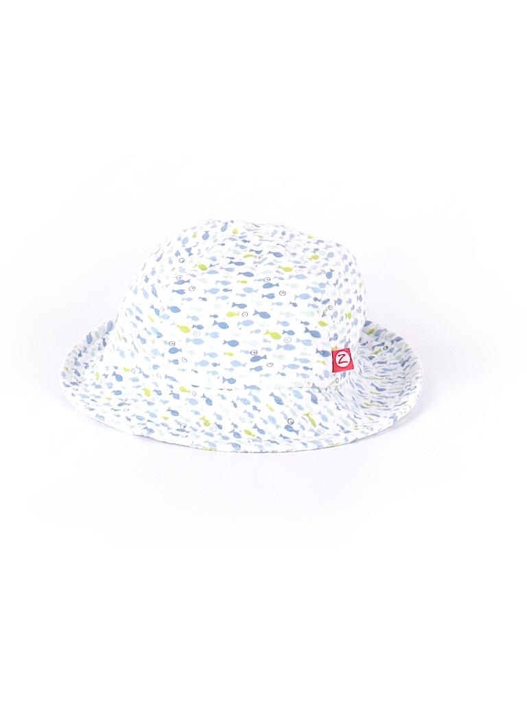 7d1f1349fd2 Zutano 100% Cotton Print Light Blue Bucket Hat Size 12-18 mo - 30 ...