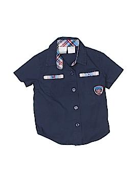 Koala Kids Short Sleeve Button-Down Shirt Size 12 mo