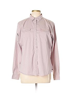 Aura Long Sleeve Button-Down Shirt Size L