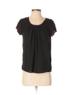 Chocolate Short Sleeve Blouse Size S