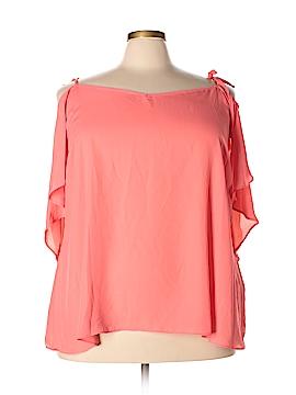 City Chic Short Sleeve Blouse Size 24 Plus (XXL) (Plus)