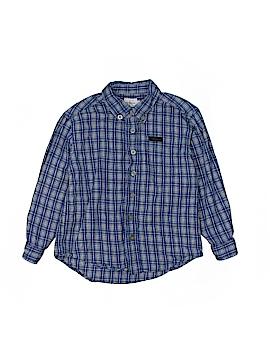 CALVIN KLEIN JEANS Long Sleeve Button-Down Shirt Size M (Kids)