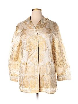 Louis Feraud 3/4 Sleeve Silk Top Size 16