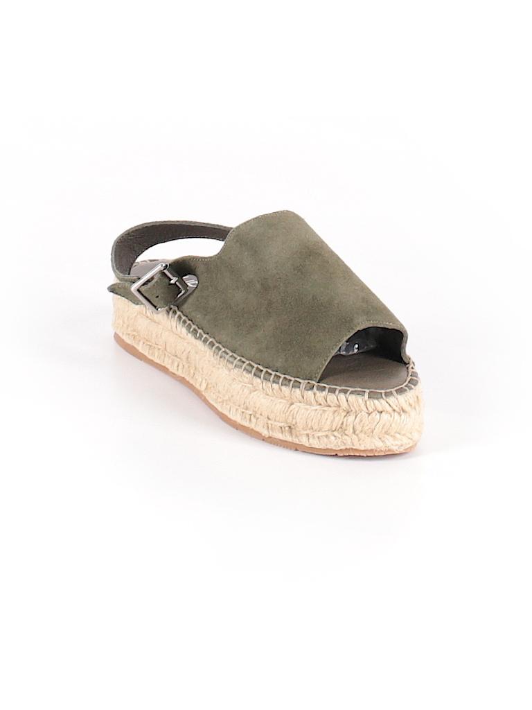 340a15138 J Slides Solid Dark Green Sandals Size 6 - 82% off