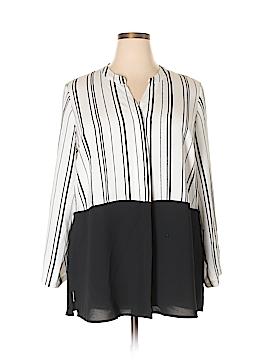 Alfani Long Sleeve Button-Down Shirt Size 18 (Plus)