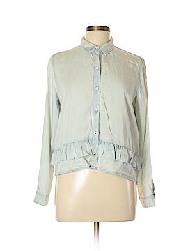Club Monaco Long Sleeve Button-Down Shirt Size L