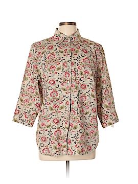 Charter Club 3/4 Sleeve Button-Down Shirt Size 14