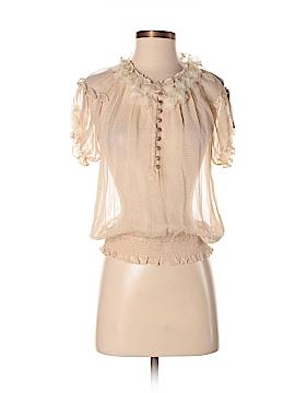 Bellatrix Short Sleeve Silk Top Size S