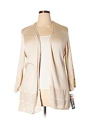 JM Collection Women Cardigan Size 3X (Plus)
